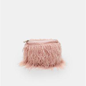 e416a540c30b Zara Bags - NWT ZARA ACCESSORIES Faux Fur Purse Gold Chain NEW